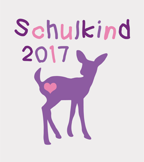 Schulkind 2017 Reh Kitz Lila