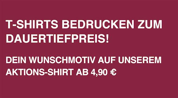 Wunschmotiv auf Aktionsshirt ab 4,90 Euro
