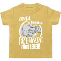 Partner-Look Familie Baby Baby T-Shirt Kurzarm Oma /& Enkel Freunde f/ürs Leben! Shirtracer