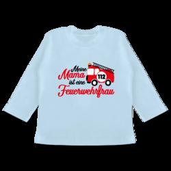 Shirtracer Baby T-Shirt Langarm Mini Feuerwehrmann Feuerwehr Baby