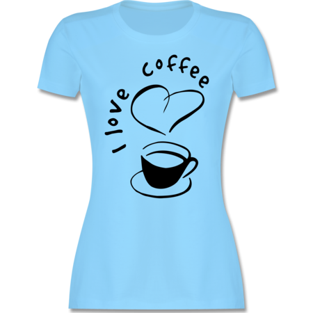 29b3855388b01 I Love Coffee - Tasse | Shirts & Mehr | Shirtracer