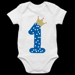 Shirtracer 1 Baby Body Kurzarm f/ür Jungen und M/ädchen Geburtstag Baby Geburtstag M/ädchen Krone Sterne