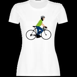 Shirtracer Radsport Lockeres Damen-Shirt in gro/ßen Gr/ö/ßen mit Rundhalsausschnitt Ride on Bike Herz