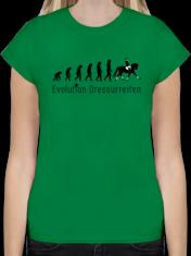 Damen Premium T-Shirt. Dressurreiten Evolution