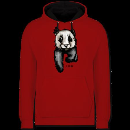 ... Wildnis; Panda mit chinesischen Schriftzeichen für Panda übersetzt