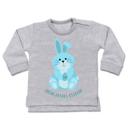Ostern Baby Baby Pullover Shirtracer Mein erstes Ostern Hase rosa