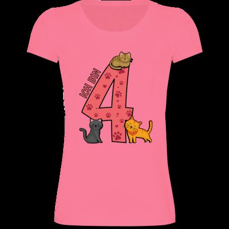4 Geburtstag Katzen Shirts Mehr Shirtracer