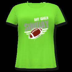 Damen Große Größen Shirt Rundhals. Any Given Sunday Football