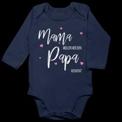 Shirtracer Anl/ässe Baby Mama wollen wir den Papa heiraten Blumen Baby Pullover