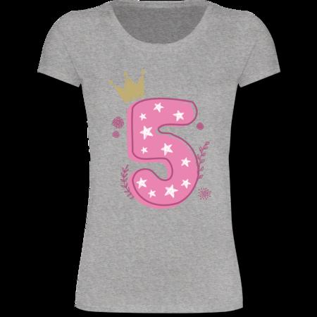 5 Geburtstag Mädchen Krone Sterne Tshirt Gym Bag Shirtracer