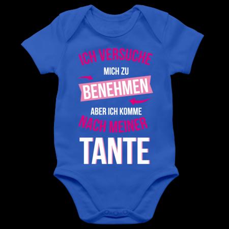 Ich versuche Mich zu benehmen Aber ich komme nach meiner Oma Baby T-Shirt Langarm Shirtracer Spr/üche Baby