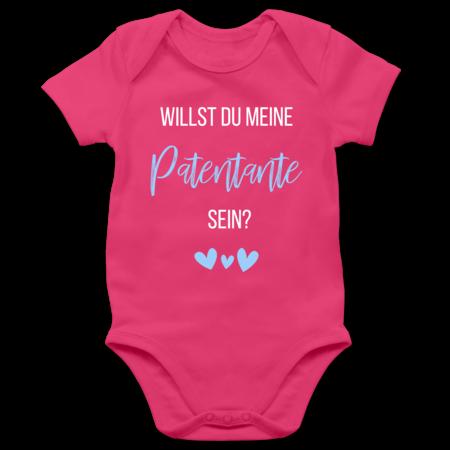 Shirtracer Kurzarm Baby-Shirt f/ür Jungen und M/ädchen Willst du Meine Patentante Sein schwarz rot Spr/üche Baby