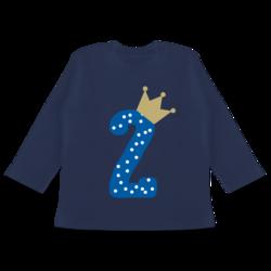 Baby T-Shirt Langarm Geburtstag Krone Junge Geburtstag Baby 2