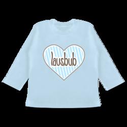 Oktoberfest Baby Shirtracer Baby T-Shirt Langarm wei/ß//braun Brezel Bande